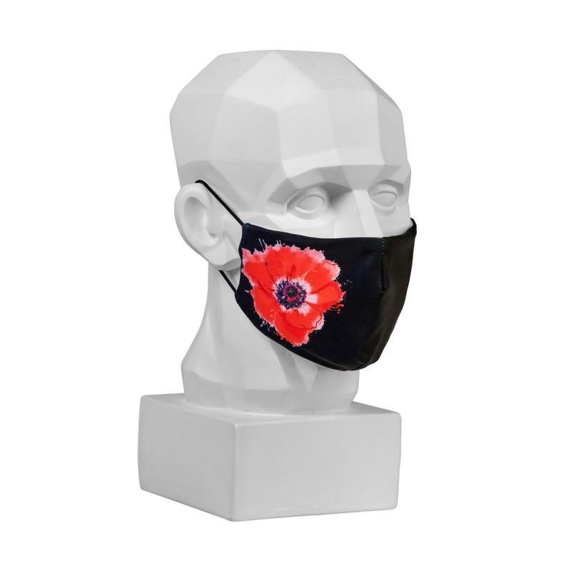 Маска защитная «Красный мак»