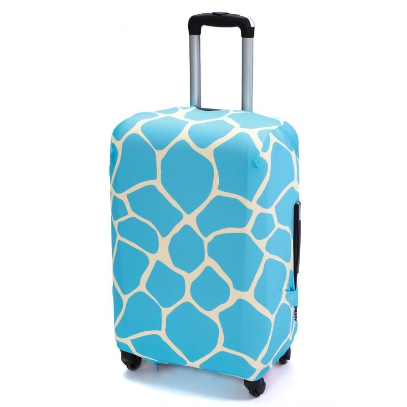 Чехол для чемодана «В бирюзовом (жираф)»