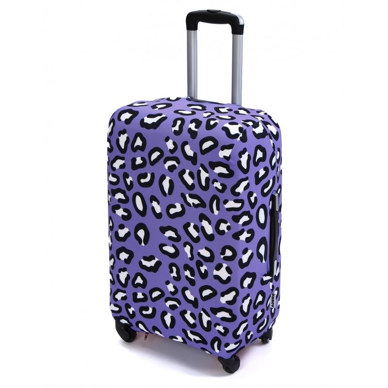 Чехол для чемодана «В фиолетовом (леопард)»