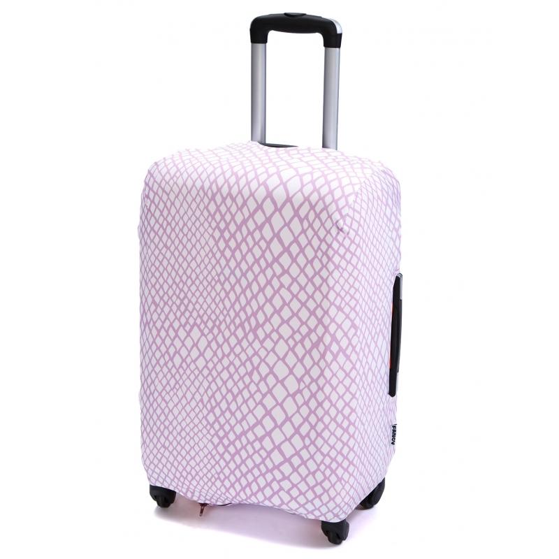 Чехол для чемодана «В розовом (змея)»