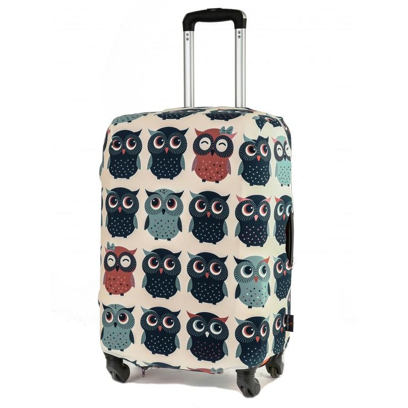 Чехол для чемодана «Совушки» размер M/L